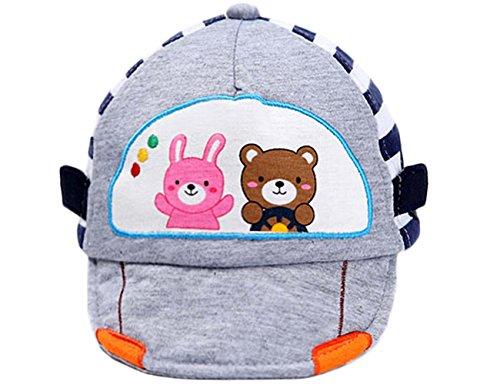 Bébé Garçon Chapeau Mode pour enfant Casquette Funny Chapeau Bébé - Gris - M