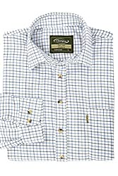 65% Polyester, 35% Cotton Easy Iron Fabric Single patch chest pocket, double button cuffed sleeves Breast Pocket Branded Buttons And Straight Cut Hem Yarn Dyed Flannel Fabric Classic Fit