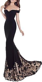 Gladiolus Vestido de Fiesta Largo de Mujer sin Tirantes de Boho Maxi Largo Falda de Sirena
