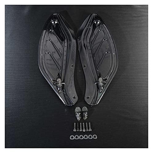 ZHUSHANG SHUANGX Motocicleta ala Ajustable ala de ala Deflector de carenado Ajuste para Harley Touring 96-13 Black/Clear Moto Styling (Color : Black)
