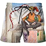 Aatensou Pantalones cortos de playa para hombre, diseño de anime Naruto para cosplay, informal, para playa, natación, deporte, surfing Trunks (K6, XXL)