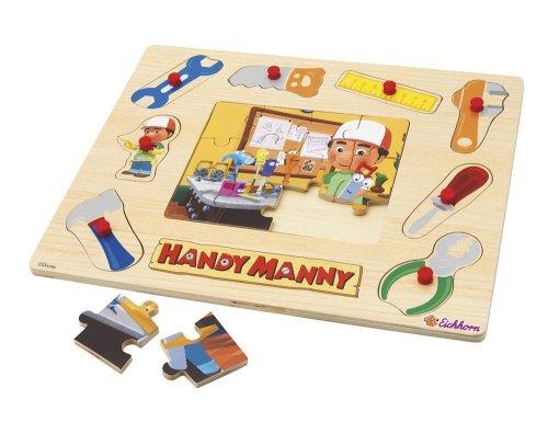 Simba Smoby Handy Manny 2-en-1 rompecabezas de madera , color/modelo surtido