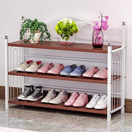 Pkfinrd - Zapatero Organizador de Metal para Zapatos, Blanco, 81x24x61cm
