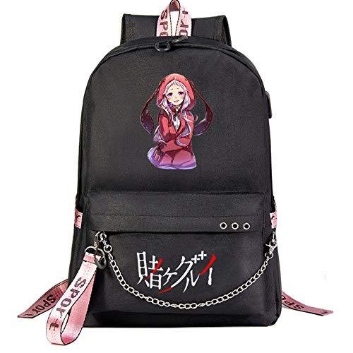Backpack,Anime Cartoon School Bags Yumeko Jabami Daypack USB chargeing Port Anti-Theft Backpack Laptop Rucksack for Students Boys Girls Men Women