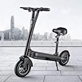NANXCYR Scooter eléctrico para Adultos, motonetas Todo Terreno con Asiento Desmontable, Motor 400W LCD de Pantalla remota Antirrobo, a 40 km Velocidad máxima/H, MAX Longitud de 80 km Rango,55km