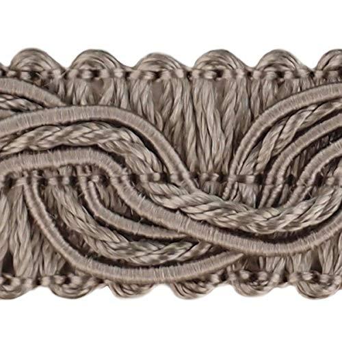 20,0 m Posamentenborte Breite 16 mm Farbe grau/silber (0,79 €/m) Brokatborten Dekoborte Bordüre Fransen Brokat Spitze Bordüre