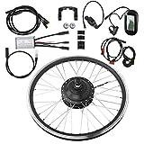 Kit de conversión de Bicicleta eléctrica, 36V 250W 700C KT-LCD6 Display Meter Mountain Bike Accesorio de Kit de conversión de Rueda Impermeable eléctrico(Rear Drive)