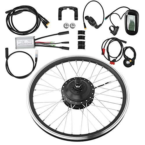 tongzhou Kit de conversión de Bicicleta 36V 250W 26 Pulgadas KT-LCD6 Medidor de Pantalla Bicicleta de montaña Kit de conversión de Rueda Impermeable eléctrico Accesorio(Rear Drive)