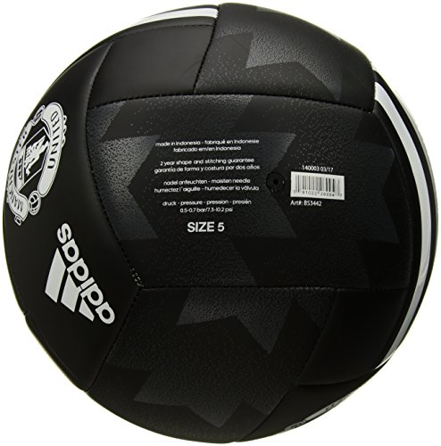 adidas Performance Manchester United FC Soccer Ball, Black/White, 5
