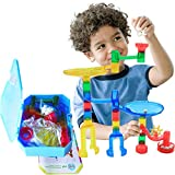 IQKidz Marble Run Building Set - Marble Race Tracks Toys for Kids 4, 5, 6 Year Old, Educational STEM Game for Girls and Boys, Deluxe Building Kit for Birthday & Christmas