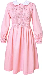 Girl's Pink Eleven Cosplay Beading Dress Costume Including Socks