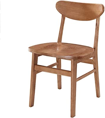 Kitchen Home Decor Dining Chair High end Solid Wood Home Pure Natural Wood Wear Resistant with Curved Backrest Home Dining Chair Office Conference Chair Walnut Color