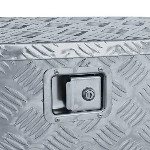 vidaXL Werkzeugbox Aluminium 70x24x42cm Trapezförmig Alubox Transportkiste - 5