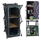 Wheels N Bits Portable <span class='highlight'>Camping</span> Storage Cabinet Folding Canvas Wardrobe Clothes <span class='highlight'>Cupboard</span> Compartment 3