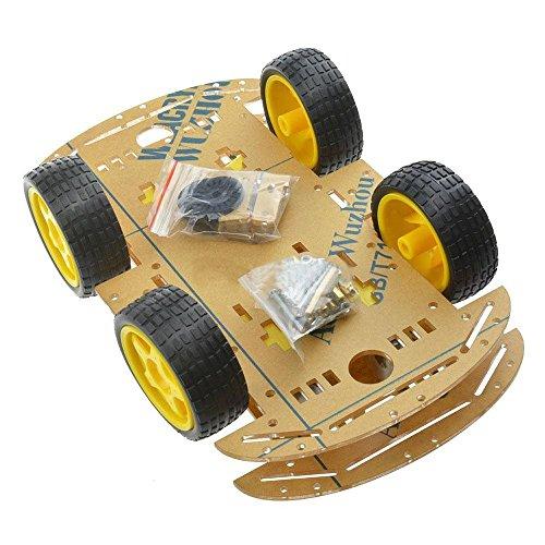 SODIAL Nuevo Coche de Robot Inteligente para el chasis Coche 4WD con Velocidad codificador para Arduino M26