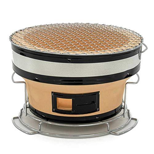 Bouder Grill im japanischen Stil, tragbarer Grill, geeignet für 3-5 Personen, ca. 27,5 17,5 cm / 10,83 6,89 Zoll Langer Holzkohlegrill, verwendet für Tischcamping im Freien Gartengrill