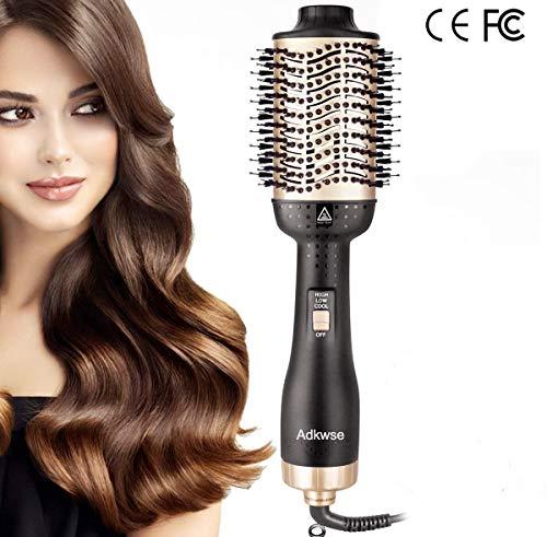 Adkwse Cepillo de aire caliente, cepillo de aire caliente, secador de pelo, cepillo de aire caliente giratorio, secador de pelo 4 en 1, cepillo de peinado de pelo lonenfön