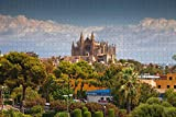 España Palma de Mallorca Catedral Jigsaw Puzzle para Adultos 500 Piezas Rompecabezas de Madera para Adultos