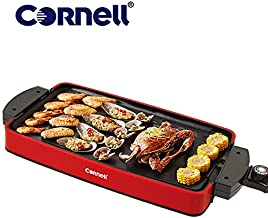 Cornell Indoor Electric BBQ Grill, Reversible and Portable Grill CCGEL39N,Red
