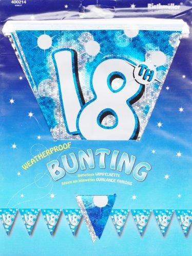 amscan Feuille d'anniversaire Bunting-18ème Bleue