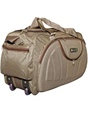 N Choice Waterproof Polyester Lightweight 30 L Luggage Travel Duffel Bag with 2 Wheels