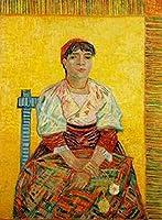 大人のための数字で描く油絵子供のためのDIYデジタル油絵イタリアの女性ヴィンセントヴァンゴッホキャンバスウォールアート家の装飾40X50Cm / 15 80X 1970インチ