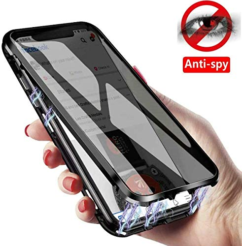 IQIYEVOLEW Anti-spy Galaxy S20 Ultra Case,Anti-peep Magnetic Clear Double-Side Privacy Screen Protector Metal Bumper 360°Full Body Case for Galaxy S20 Ultra 6.9 inch (S20 Ultra Black)