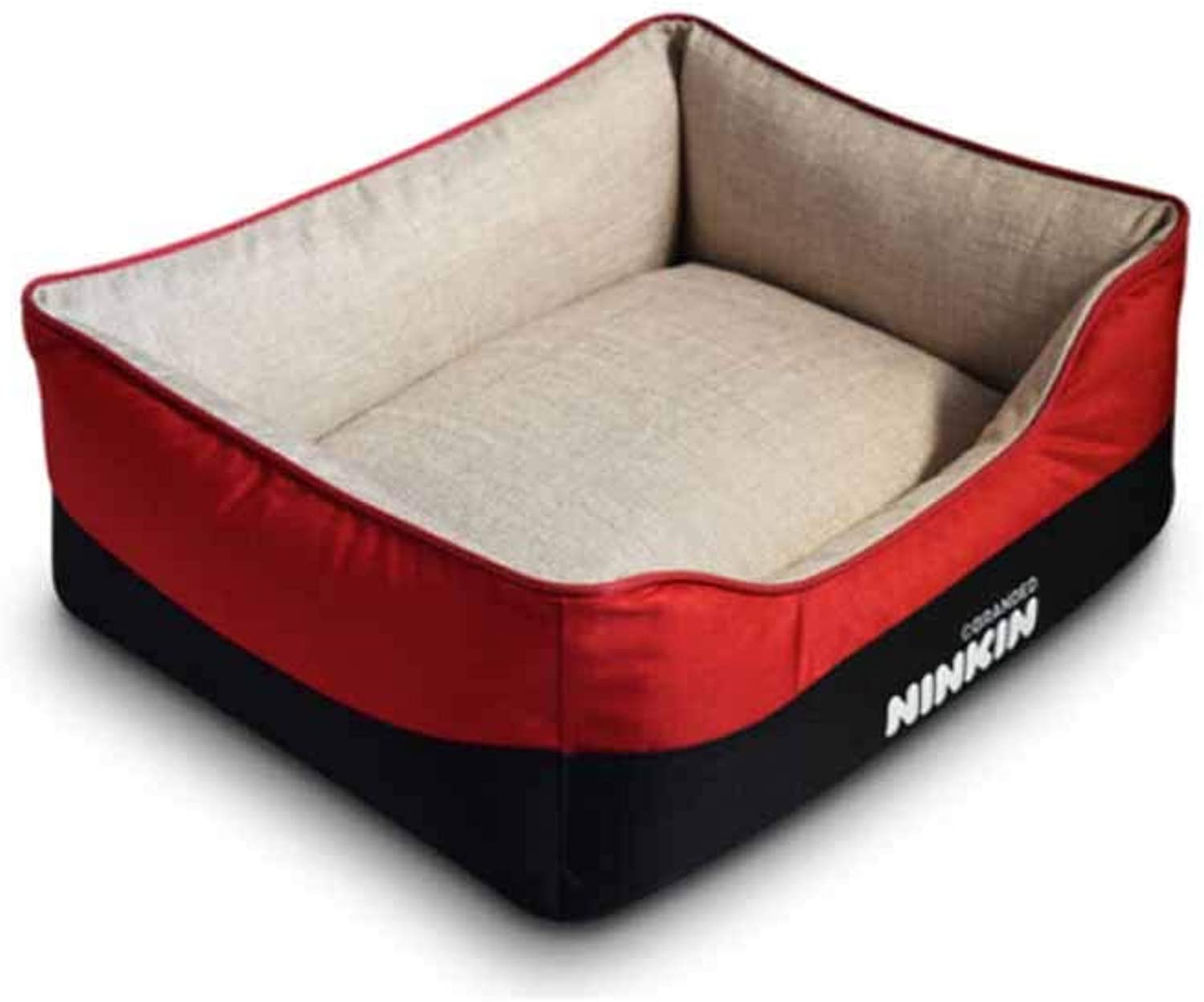 Muziwenju Kennel, Dog Bed, Teddy VIP Kennel, Washable Autumn and Winter Kennel, Big Dog Mat, (color   Red, Size   S)