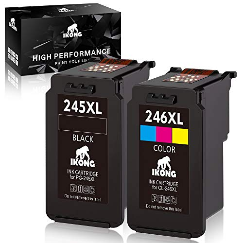 IKONG Remanufactured Ink Replacement for Canon PG-245XL CL-246XL PG-243 CL-244 245 Ink Work with Canon Pixma MX492,MG2920,MG2520,IP2820,MG2922,MG2420,MG2522,MG3022,MG2525 (1Black, 1Tri-Color)