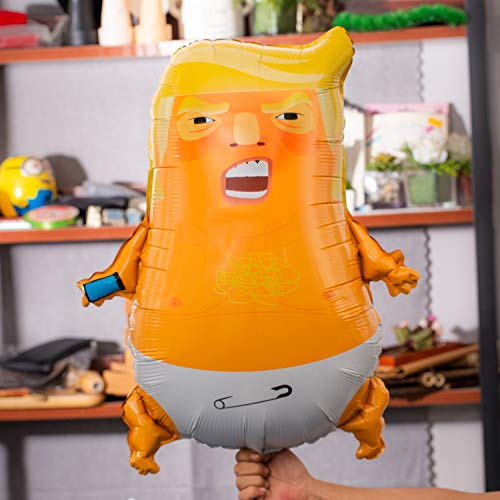 10 PACK BONUS - Angry Baby Trump Foil Balloons | 24 inches | Perfect for Parties | Gag Gifts