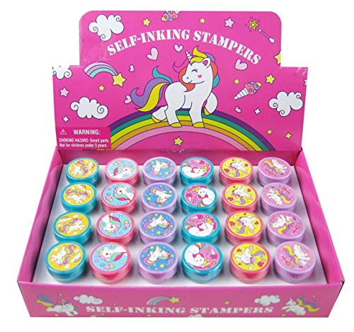 TINYMILLS 24 Pcs Unicorn Stampers for Kids