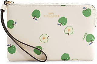COACH Women's Jes Corner Zip Wristlet With Horse And Carriage