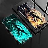 Carcasa de Telefono,Funda Protectora para iPhone Funda para Teléfono 3D Carcasa de Vidrio Templado Brillo Nocturno Antifricción Anime Una Pieza Llama Serie (Compatible con iPhone 6S)