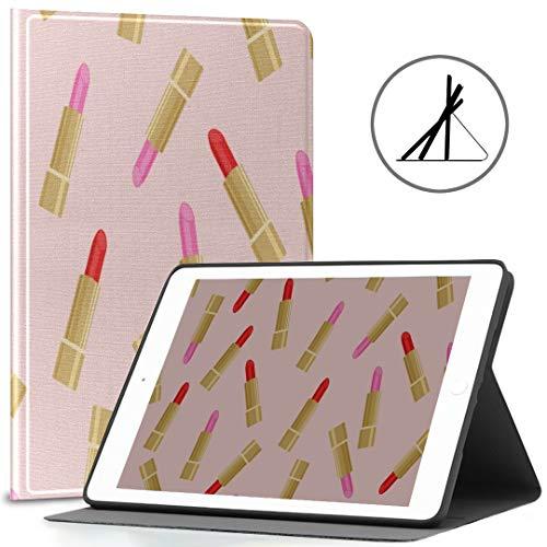 Funda Apple iPad 9.7 Hermoso Maquillaje Lápiz Labial