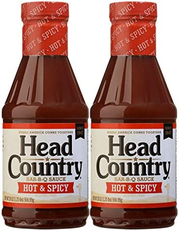 Head Country Bar B Q Sauce Hot Spicy Flavor 20oz pack of 2 product image