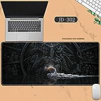 素敵なマウスパッド特大アイスプリンセスゴーストナイフ風チャイムプリンセスアニメーション肥厚ロック男性と女性のキーボードパッドノートブックオフィスコンピュータのデスクマット、Size :400 * 900 * 3ミリメートル-JD-302