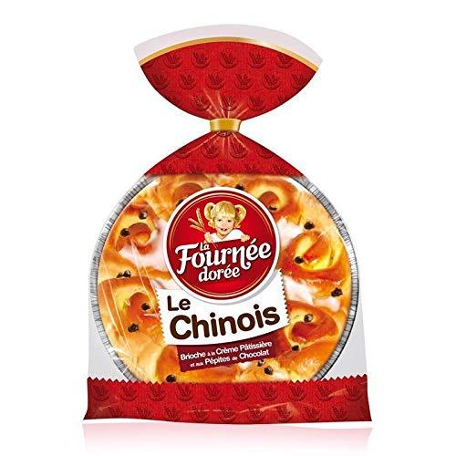 La Fournée Dorée Le Chinois Brioche à la Crème Pâtissière et aux Pépites de Chocolat 500g (lot de 3)