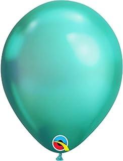 Qualatex Plain Chrome Latex Balloons 25-Pieces, 11-inch Size, Green