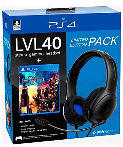 PDP Gaming - Cuffie cablate LVL40 Oficial PS4 + Kingdom Hearts III (PlayStation 4)