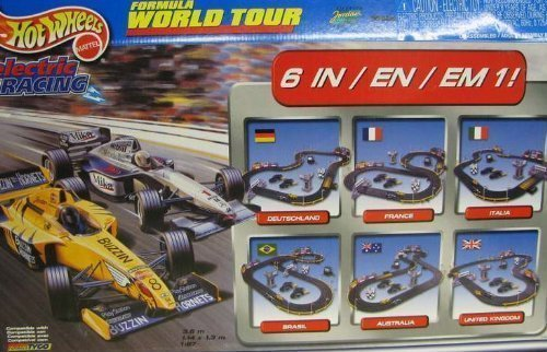 Tyco Formula Word Tour HO Slot Car Electric Racing...