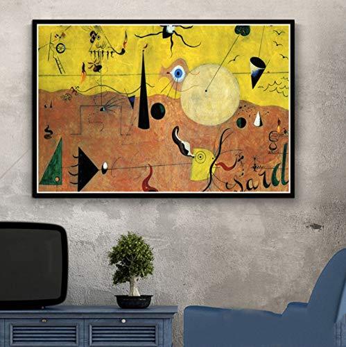 QINGRENJIE Kunst Gemälde Berühmter Maler Modernes abstraktes Bild Retro Poster und Drucke Wandkunst Leinwand Wandbilder für Wohnzimmer Wohnkultur 50 * 70 cm ohne Rahmen