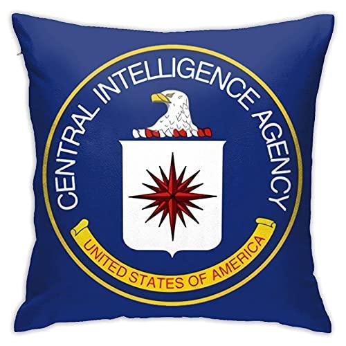 862 Central Intelligence Agency - Fundas de almohada decorativas de 45 x 45 cm