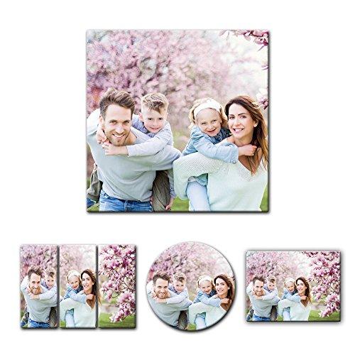 Leinwandbild - mit Ihrem Wunschmotiv - Quadrat-Format - 50x50 cm - Mein Foto auf Leinwand - SOFORT VORSCHAU - Eigenes Bild - Dein Wunschmotiv aufgespannt auf Bilderrahmen