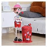 Contenedor de basura Muñeca de hierro Dibujos animados de basura...