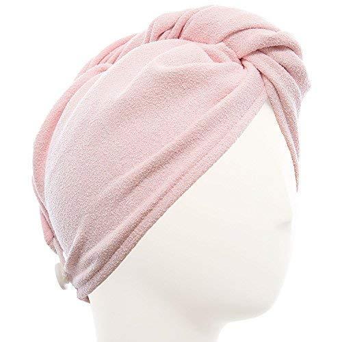 AQUIS - Original Hair Turban, Perfect Hands-Free Microfiber Hair Drying, Soft Pink (10 x 26 Inches)