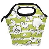 Bolsa de almuerzo con diseño de manzana, reutilizable, aislante, para mujeres, niños, parrillas de almuerzo, preparación de comidas, bolso de mano para la escuela, picnic, oficina