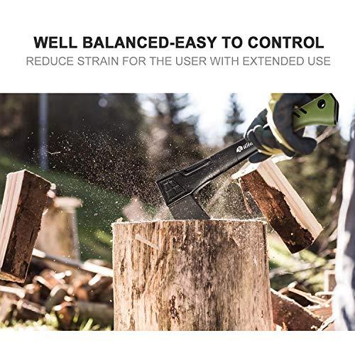 ウルトラナチュラ斧ユニバーサルアックス46cm保護ケース付きブラック/グリーン小型