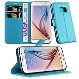 Cadorabo Funda Libro para Samsung Galaxy S7 en Azul Pastel - Cubierta Proteccíon con Cierre Magnético, Tarjetero y Función de Suporte - Etui Case Cover Carcasa