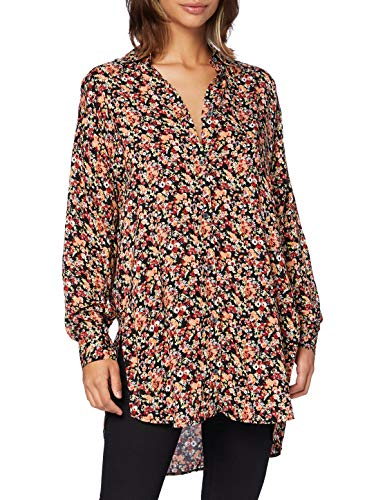 Mavi Damen Printed Shirt Bluse, Baked Clay Grunge Flower Print, S