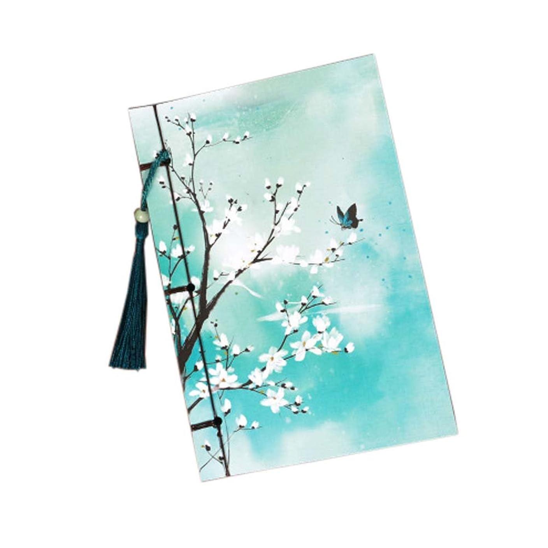 ヴィンテージ中華スタイルメモ帳ステーショナリーノート帳雑誌タッセル、#07